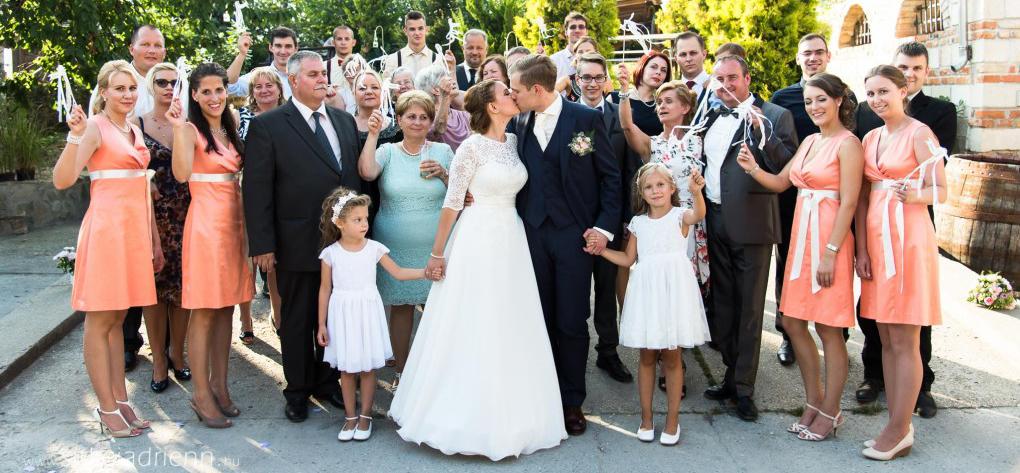 Kis, családias esküvő megörökítése