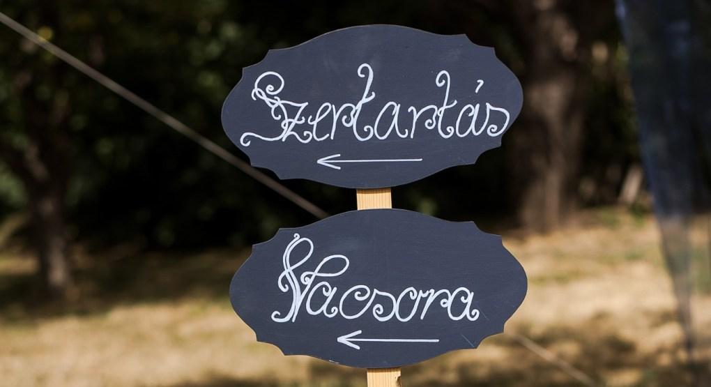 Egy esküvő időbeosztása