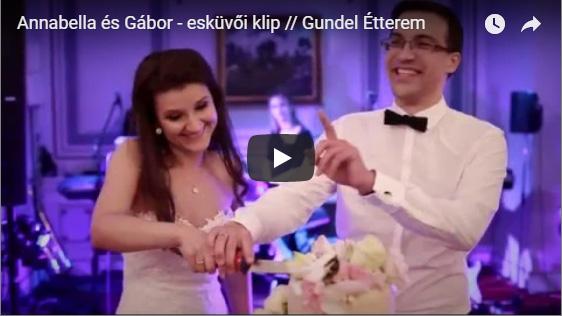 Annabella és Gábor elegáns esküvője a Gundel Étteremben
